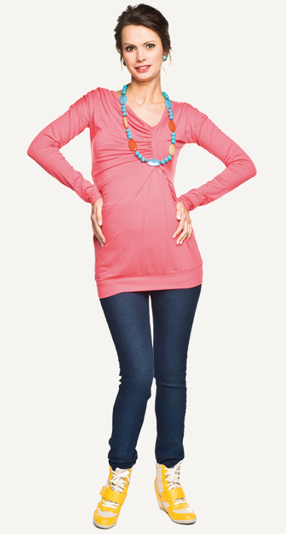 "Torelle Maternity Blouse ""Diuna"" - Apricot"