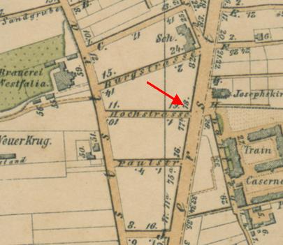 Stadtplan 1894 -Ausschnitt