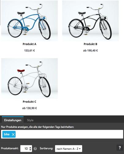 Bild: Produktübersicht