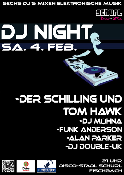 plakat dj night 2017