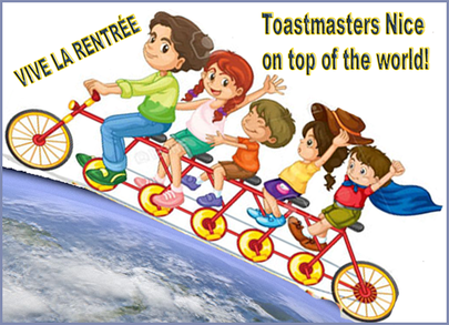 Toastmasters Nice On Top of the World