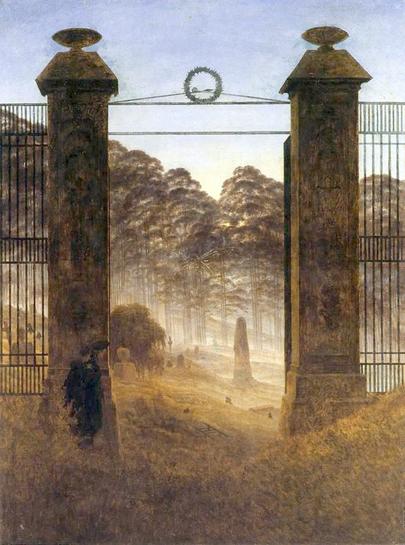 "Caspar David Friedrich, ""L'entrata del cimitero"" (1825)"