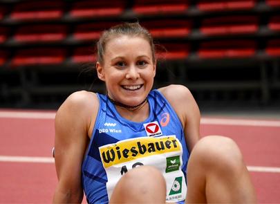 Julia Mayer hallenstaatsmeisterin Staatsmeisterin indoor 2021 3000 meter laufen Langstrecke tipsarena Linz Dsg wien Austrian Athletics