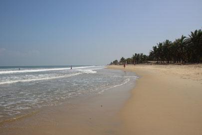 la plage de Hoi An sur la mer de Corail