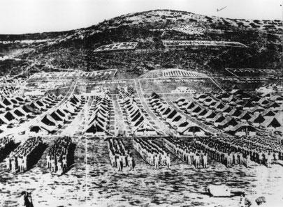 Camp de prisonniers politiques de Macronissos (en face de Sounion) - source wikimedia commons