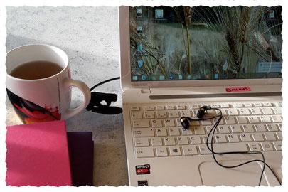 Online Kurs am Laptop