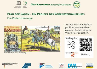 Standbild aus der digitalen Führung durch die Burgruine Rodenstein