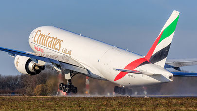 Emirates SkyCargo concentrates on Boeing 777 freighter ops  -  company courtesy