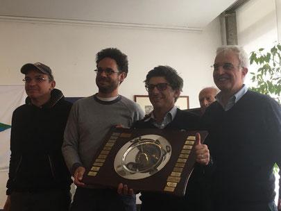 Al centro Met Brescia e Steven Borzani tra il Presidente Umberto Cocuzza e il Segretario Andrea Minoni