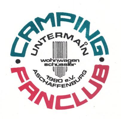 """Das erste Emblem des Clubs -    noch mit """"wohnwagen schüssler"""" in der Mitte"""