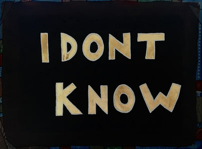 i don't know by david hinterkörner. 2018. oil on canvas. 30x40.