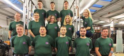 Das Team von Heideglas Uelzen! Es fehlen Ulrich Hildebrandt, Angelina Buss und Kooperationspartner Torsten Gorzolka.