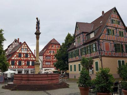 Marktplatz in Ladenburg. Foto: Bahnfrend