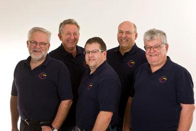 von links: Robert Schröder, Peter Oberndorfer, Stefan Hagl, Jürgen Nowak, Ralph Steffen