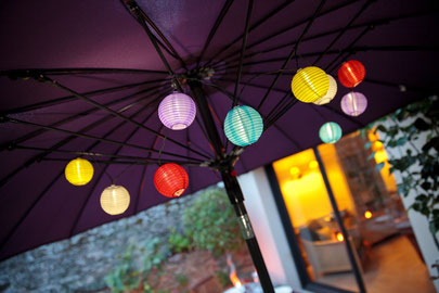 ©Nortene, guirlande SAMBA, lampions d'inspiration japonaise