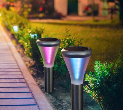©Nortene, KALEIS balise solaire aux coloris changeant