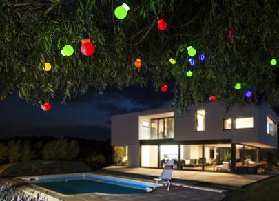 ©Nortene, guirlande RUMBA, pour une ambiance festive sur la terrasse