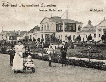 Historisches Bild vom Leopoldsbad am Rosengarten © Bad Salzuflen