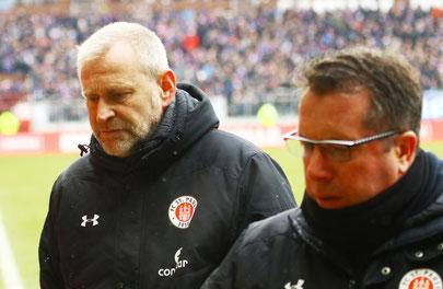 Mit sofortiger Wirkung freigestellt: Sportchef Uwe Stöver und Cheftrainer Markus Kauczinski - Foto: pin