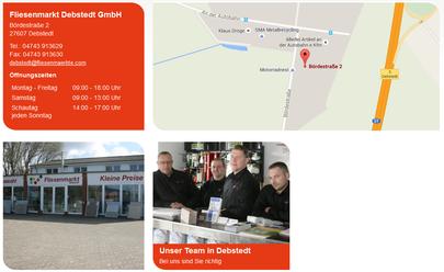 Fliesenmarkt Debstedt , Partner von Nordfeuer GmbH