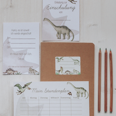 Einschulung Dinosaurier Schulstart Stundenplan Roar