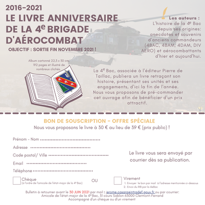 Bon de souscription pour le livre de la 4e BAC, à paraître fin novembre 2021 aaalat-languedoc-roussillon.fr