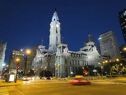 Philadelphia bei Nacht