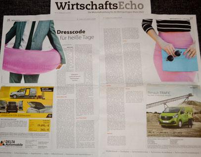 Wirtschaftsecho Rhein-Main 06/19: Tipps zum Sommeroutfit im Büro von Stilberaterin Jasmin Link