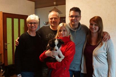 Toby mit seiner neuen Familie