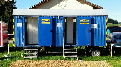 Lohnunternehmen Guggisberg Zimmerwald LGZ WC Toilette Maschinenmiete Tractor Pulling
