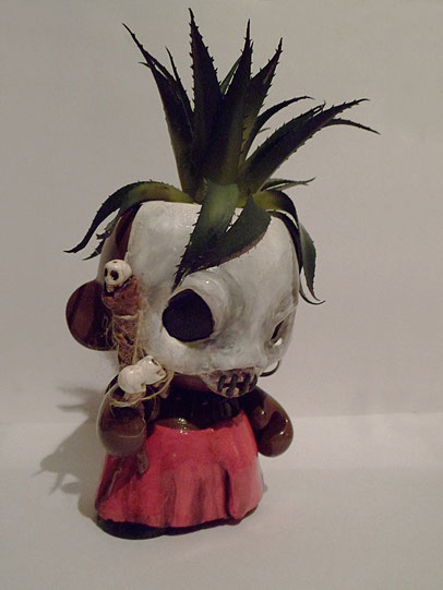 customized munny kidrobot voodoo houdou