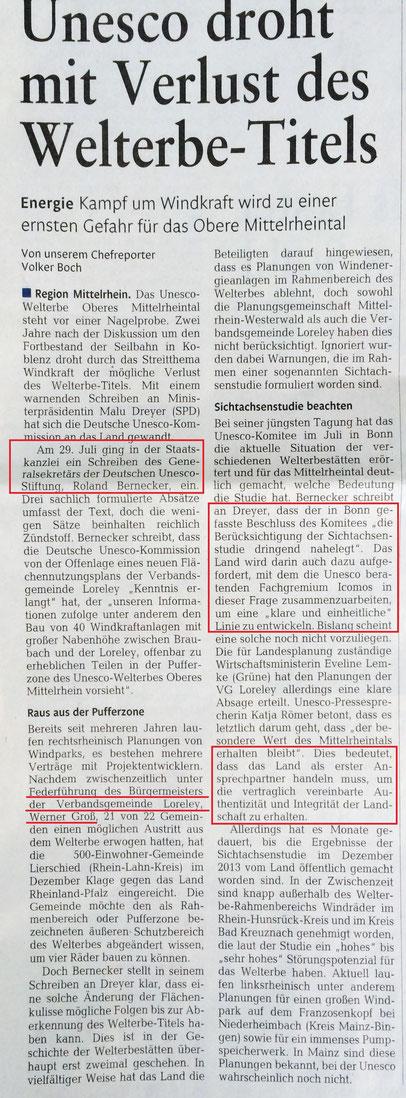 Rhein-Lahn-Zeitung v. 06.08.2015