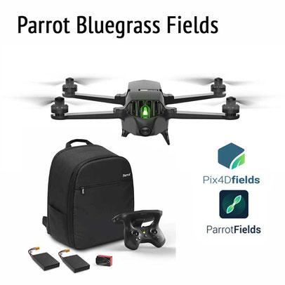 Parrot Bluegrass Fields con cámara multiespectral y software, baterías todo en un dron