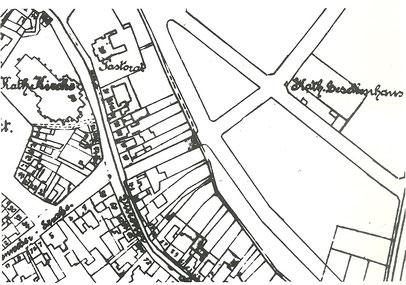 Lageplan Kolpinghaus (mit freundlicher Genehmigung des Kataster-  und Vermessungsamtes der Stadt Eschweiler)