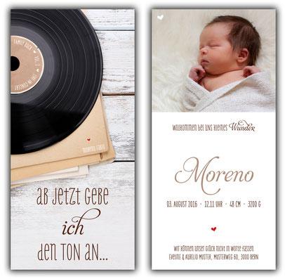 Geburtskarte Schweiz kartendings Geburtsanzeige