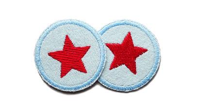 Bild: Jeansflicken Hosenflicken Stern rot Patch zum aufbügeln Flicken