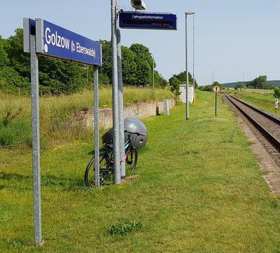 Der Bahnhof in Golzow 16230