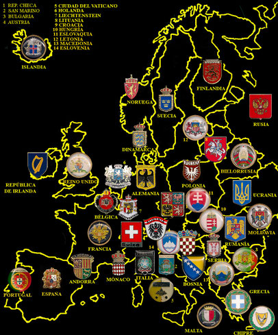 Heráldica europea.