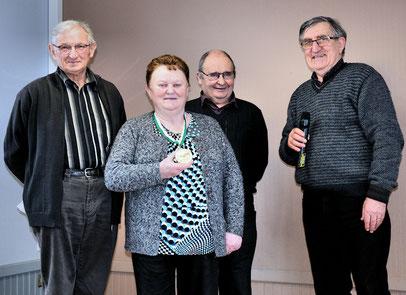 André Peurois, Nicole et Joseph Suhard et Jean-Pierre Mounier