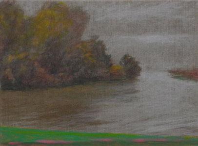 Hinte 1, Öl/Leinwand, 30 x 40 cm, 2019