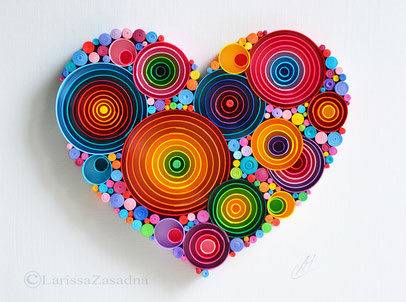 1st Anniversary gift, Quilling art, Heart, Paper art, Art , Love, Wedding, Handmade, Framed, Wall Decor, Design, Gift Artwork, Quilling art, Paper art, Wall decor, Home, Framed, Handmade, Decor, Design, Gift