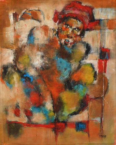 Droit d'une mère - 78x63 - Acrylique - 2015