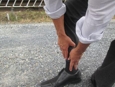 スネの外側痛み、足先がけつまずく原因は、脚の長さ違いとゆがみ