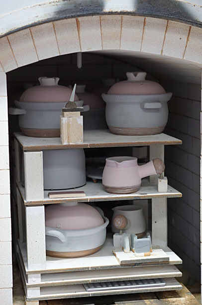 仲本律子 陶芸作家 ブログ 女性陶芸家 茨城県笠間市  窯焚き