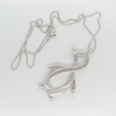 gioielli biancopunto jewels pendente pinguino