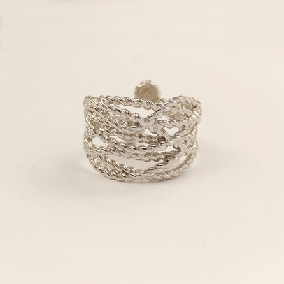 gioielli biancopunto anello twine ring