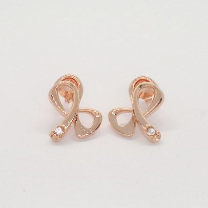 gioielli biancopunto orecchini fiocco rosa