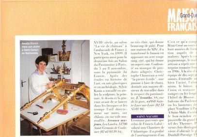article dans Maison Française