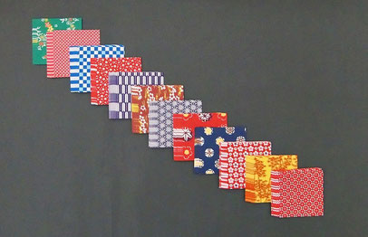 Origami Papier Set - Japanische Traditionsmotive Mini-Sets 7,5 x 7,5 cm