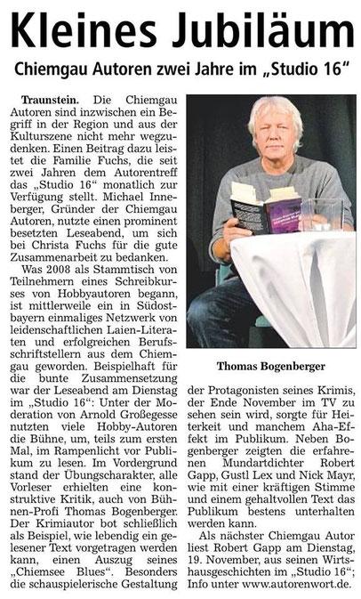 Pressebericht Chiemgau Autoren Studio 16